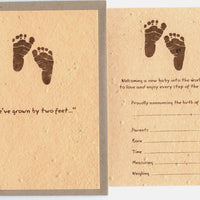 Grow A Note Just - Birth Announcement Cards - natural envelopes - pack of 6 cards