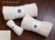 Organic Cotton Natural Terry Bath Sheet Towels - good for chemically sensitive - Clearance
