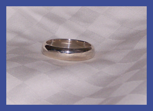 Sterling Silver Men's Rounded Band Ring