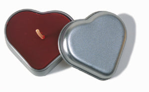 Cinnamon Scented Beeswax Heart Shaped Tin Candles