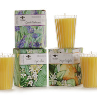 Natural Beeswax Vendure Glass Candles
