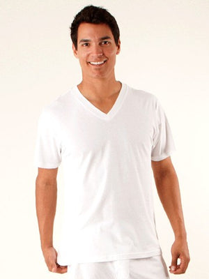 Men's Organic V-Neck T-Shirts - S, M, L, XL