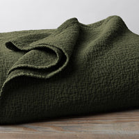 Cascade Organic Matelasse Blanket - Full/Queen, King, and Shams