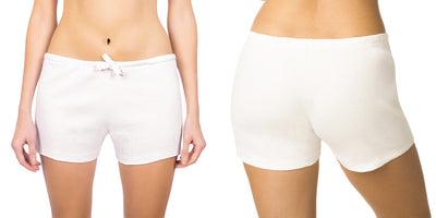 Women's Organic Cotton Drawstring Boxer Short - 2 Pack