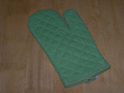 100% Organic Cotton Large Green Oven Mitt