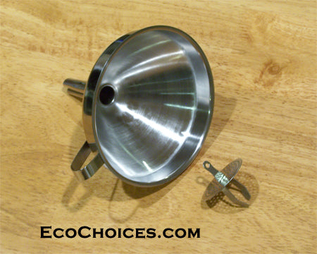 Stainless Steel Funnel With Removable Strainer