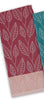 Burgundy Leaf Organic Cotton Kitchen Towel