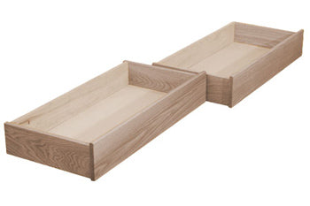 Dapwood Underbed Wooden Storage Drawers - Set of 2