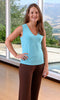 Bamboo Women's Tank Top in Pool Blue - M, L, XL