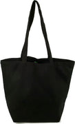 Black Organic Cotton Canvas Shopping Bag
