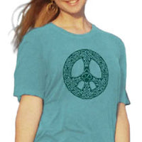 Organic Cotton Unisex Celtic Peace T-Shirt - M, L, XL