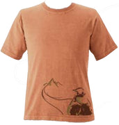 Organic Cotton Unisex Destination Hiker T-Shirt in Terra - S, M, L, XL, XXL