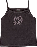 Swirly Heart Tank Top - XS, M, L, XL