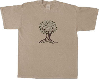 Organic Cotton Unisex Keep It Green T-Shirt in Sandstone - S, L, XXL