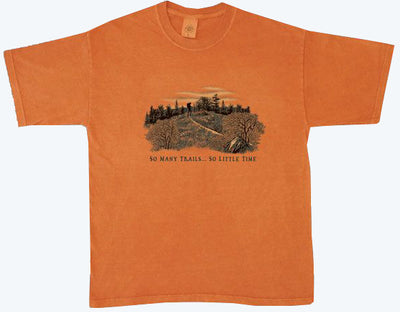 Organic Cotton Unisex So Many Trails T-Shirt  - size small