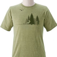 Organic Cotton Unisex Moose And Eagle Forest T-Shirt- S, L