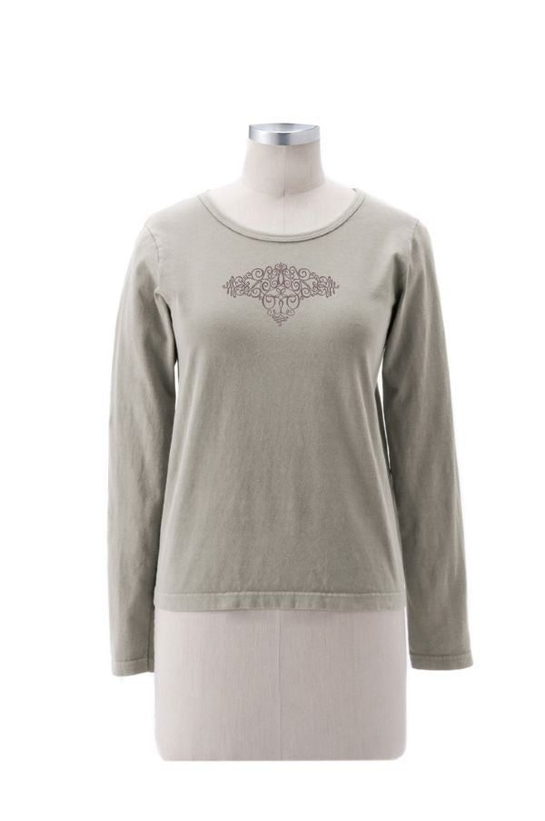Women's Swirly Tattoo Long Sleeve Shirt - S, M, L, XL