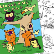 Eco Coloring Book: Woodland World