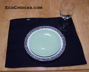Black Hemp Placemats - Set of 2