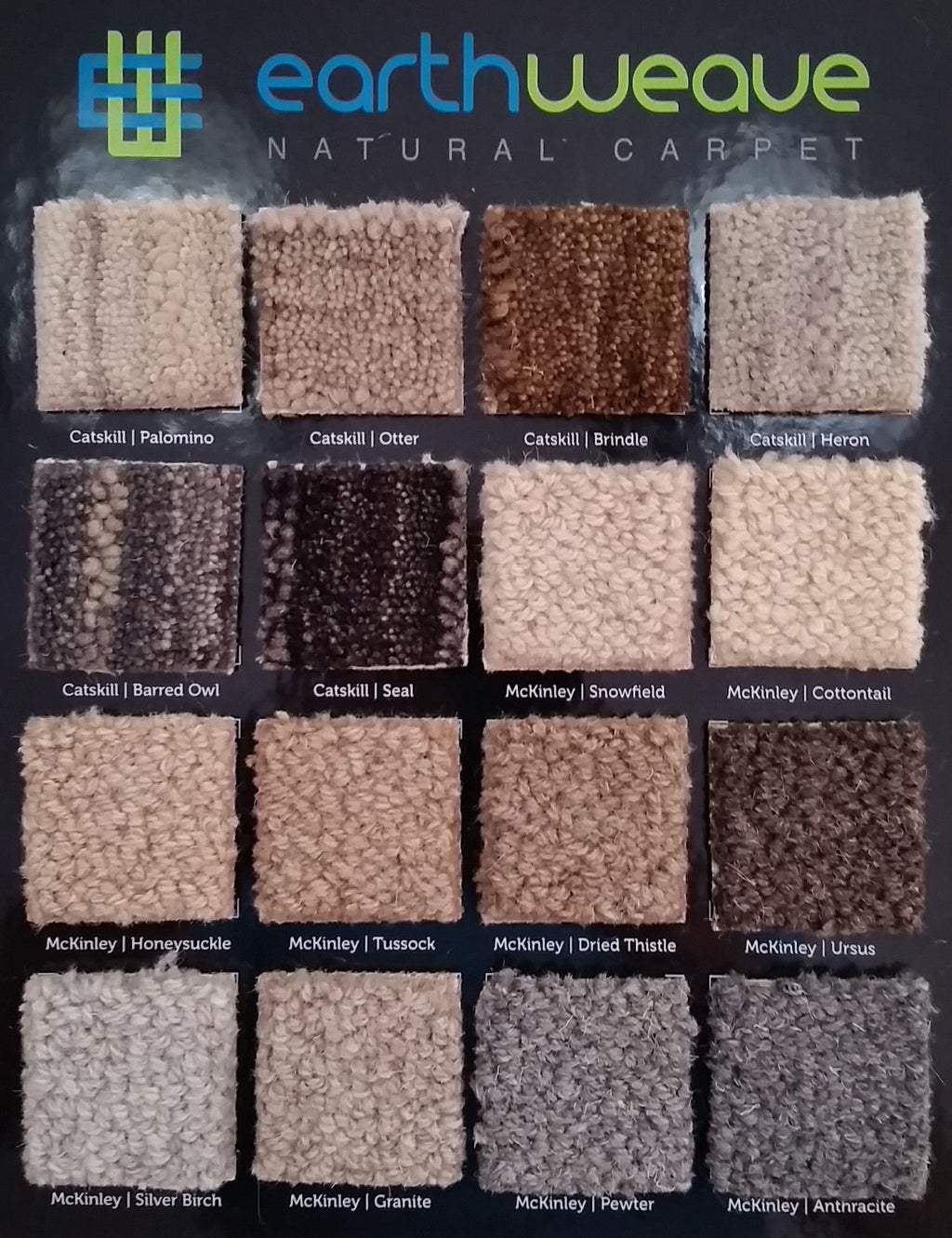 Earth Weave Wool Carpets Sample Board