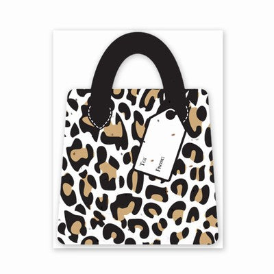 Grow A Note Gift Card Holder - 	 Leopard Purse Design