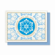 Hemp Holiday Cards: Snowflake - pack of 8 cards