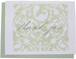 Grow A Note Just - Lavender Thank You Blank Cards - green envelopes - pack of 5 cards