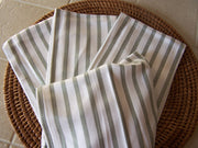 Stripped 100% Bamboo Kitchen Towels - White with Sage Stripe