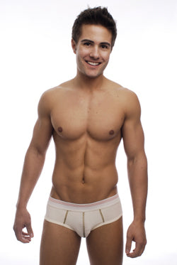 Organic Cotton Low-Rise Men's Briefs in Natural  - S