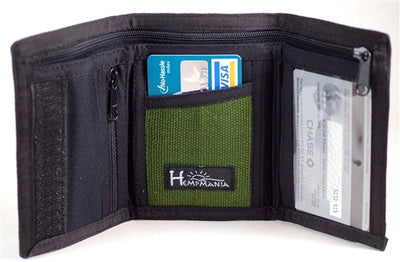8 Compartment Trifold Hemp Wallet