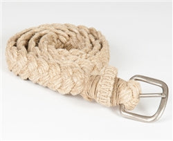 Natural Hemp Braided Belt