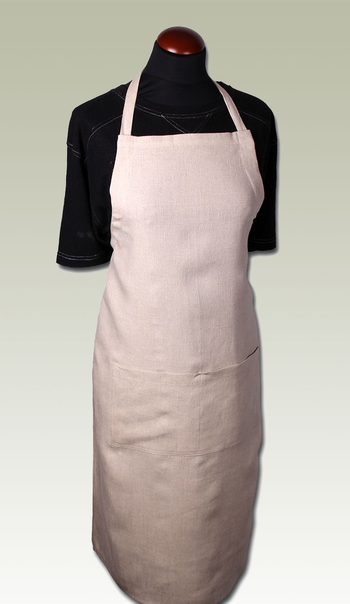 Lite Weight Natural Hemp Apron
