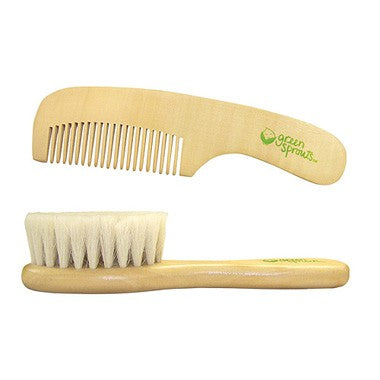 Baby Hair Brush, Comb, Nail Brush & Nail Clipper Set