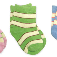 Organic Cotton Prints & Striped Socks - New Born, Infant, & Toddler