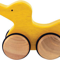 Push Along Wooden Yellow Duck