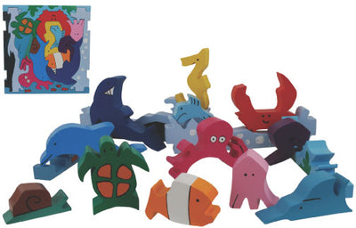 Copy of Colorful Wooden Puzzles - Sealife Puzzle Play - ages 3+
