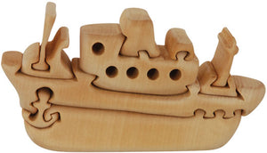 Copy of Natural Wooden Puzzles - Tug Boat Puzzle - ages 5+
