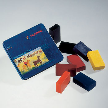 Stockmar Beeswax Crayons Tin-case 8 Block Crayons