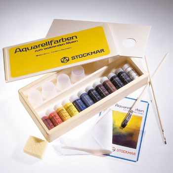 Stockmar Watercolor Paint Set With Wooden Box