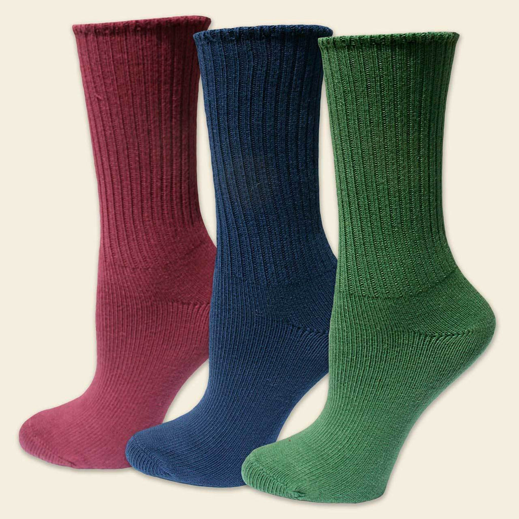 Maggie's 3 Pack Organic Cotton Adult Crew Socks