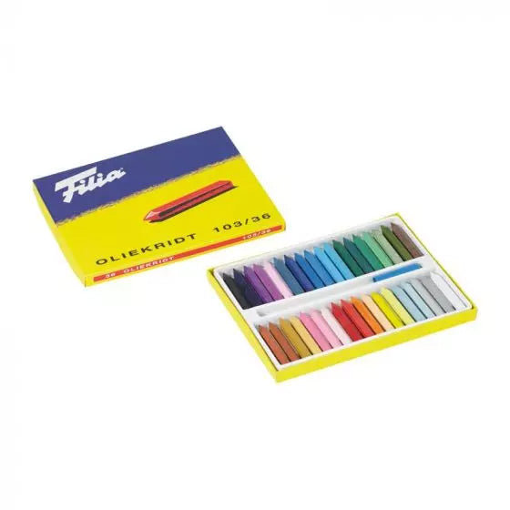 Filia Oil Crayons - 36 assorted colors