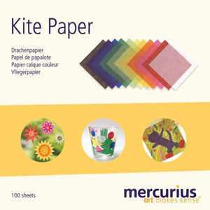 "Kite Paper  - 100 (6.3""x6.3"") Sheets per pack - Assorted Colors"
