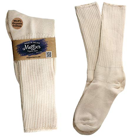 Maggies Organic Cotton Skin Sensitive Socks (Allergy Crew Socks)