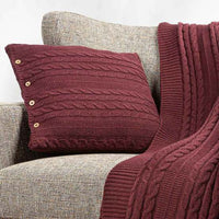 Organic Cotton Cable Knit Throws & Pillow Covers