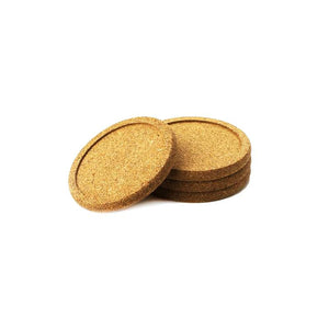 Cork Coaster Set - set of 4