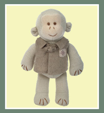 Organic Cotton Knitted Monkey With Outfit