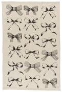 Natural Linen Bows Kitchen Towels