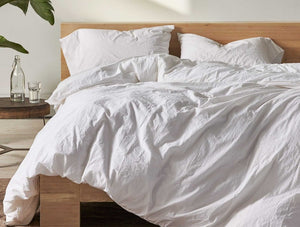 Organic Crinkled Percale Duvet Cover