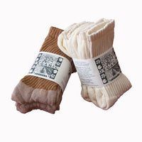 Organic Cotton Crew Socks - Three Packs