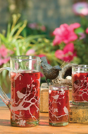 Beautiful Glass Pitchers & Tumblers
